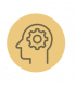 head with gear icon for leaders to figure out personal values