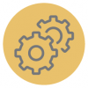 Gear icon - About Us, Core Values Relationships