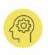 Head icon for executive coaching, developing culture for leaders