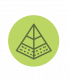 Pyramid icon for developing skills and influencing